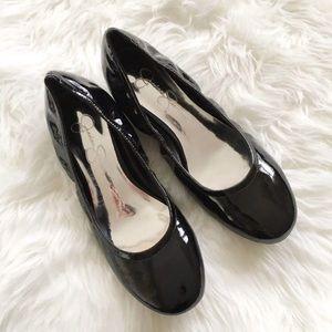 Jessica Simpson Black Patent Ballet Flats 6.5